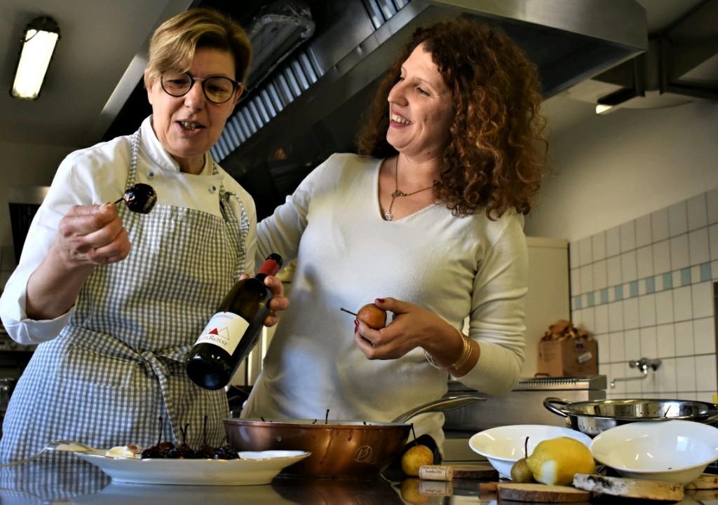 pere volpine caramellate al vino Groppello